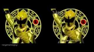 getlinkyoutube.com-Power Rangers Mystic Force First Appearance Split Screen (PR and Sentai version)