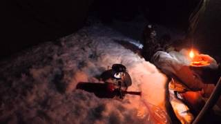 getlinkyoutube.com-Solo Winter Bushcraft Overnight Snow Freezing Rain quick Dinner, coffee and the Van