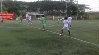 The first goal of Huy Hoang for Oto Thinh Loi