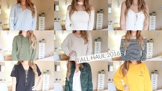 getlinkyoutube.com-HUGE TRY-ON FALL HAUL 2016