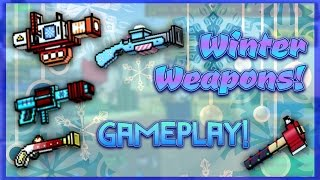 getlinkyoutube.com-Pixel Gun 3D - Winter Weapon Gameplay!