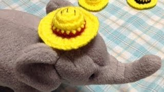 getlinkyoutube.com-How to crochet a Luffy's hat【ONE PIECE】(1/3) ルフィの帽子(麦わら帽子)の編み方(1/3) by meetang
