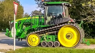 getlinkyoutube.com-John Deere tractor 8370 RT! 1 of 4 in Europe! Farmers dream!