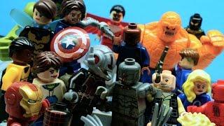 getlinkyoutube.com-Lego Avengers and Fantastic 4 - FALLEN (PART 2/2)