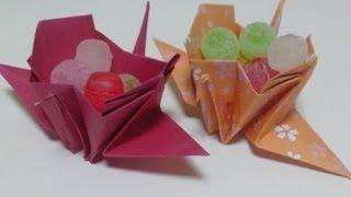 getlinkyoutube.com-Great Origami-how to make paper crane box-暮らしを彩る、すてきなおりがみ雑貨-鶴の箱の折り方-