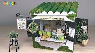 getlinkyoutube.com-Billy Miniature Herb Tea House Kit ミニチュアキット ハーブティーショップ作り