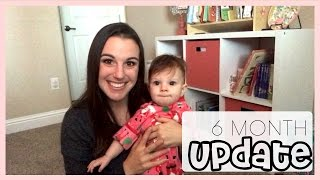 getlinkyoutube.com-BABY UPDATE | 6 MONTHS OLD | Crawling & Solid Food!
