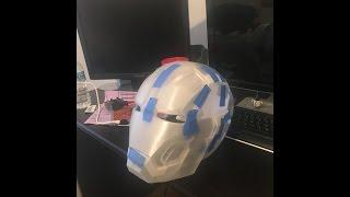 getlinkyoutube.com-3D Print: Mark 42 Iron Man Helmet Time Lapse