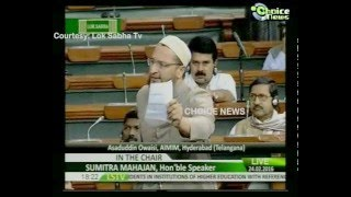 getlinkyoutube.com-ASADUDDIN OWAISI FIRING SPEECH IN PARLIAMENT | 24th FEB 2016 | CHOICE NEWS