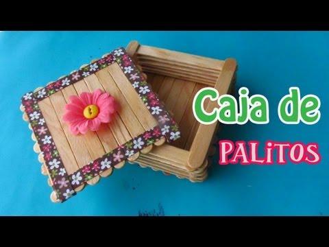 Caja de Palitos de Paleta// Manualidad para el día de las Madres
