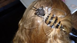 getlinkyoutube.com-DIY Recycled Project - Plastic Spoon Crafts: How to Make a Cute Honey Bee