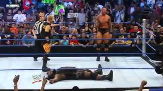 getlinkyoutube.com-Randy Orton crazy jump after RKO on Mark Henry on Smackdown