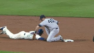 getlinkyoutube.com-NYY@NYM: Collins ejected after arguing pickoff play