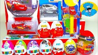getlinkyoutube.com-Unboxing Kinder Surprise Киндер Сюрпризы Дисней Тачки,Машинки ХотВилс,Angry Birds,Фиксики,Mcqueen