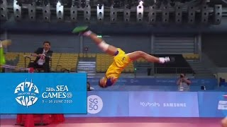 getlinkyoutube.com-Sepak Takraw Team Mens Doubles MYA vs THA (1st Regu/Match) | 28th Sea Games Singapore 2015