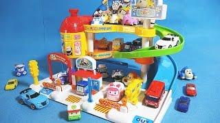 getlinkyoutube.com-타요 Tayo 로보카폴리 Robocar Poli 또봇 미니카 브루미즈 주차장놀이 오픈박스 장난감 Tayo Robocar poli Vroomiz toys
