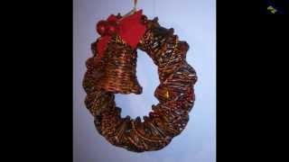 getlinkyoutube.com-Stroiki Świąteczne z wikliny papierowej