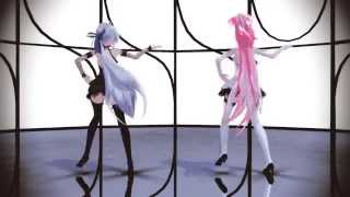 getlinkyoutube.com-[MMD] Girls - [Luka and Haku]