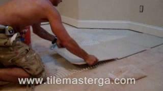 """getlinkyoutube.com-Tile installation in Atlanta GA - 20""""x20"""" porcelain tiles on slab floor - How to -, Alpharetta"""