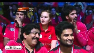 getlinkyoutube.com-Lee Chong Wei vs K  Srikanth   2016 Indian Badminton League Highlights