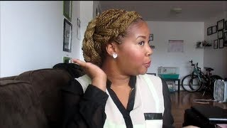 getlinkyoutube.com-Easy updo with Senegalese twist