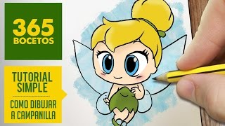 getlinkyoutube.com-COMO DIBUJAR CAMPANILLA PASO A PASO - Dibujos kawaii faciles - How to draw a Tinkerbell