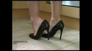 getlinkyoutube.com-Elise returns from work wearing her sexy stilettos and showing her bare legs at stilettotease.com