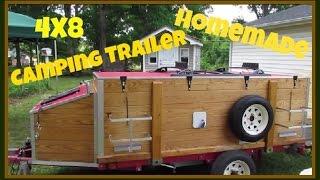 getlinkyoutube.com-Harbor Freight 4x8 Camping Trailer