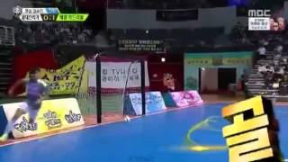 getlinkyoutube.com-[150928] Seventeen Mingyu Scored A Goal (Soccer Match) @ idol star athletics championships 2015