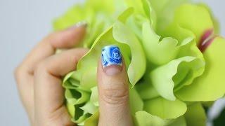 getlinkyoutube.com-[미대의 네일컬렉션]61화_ 블루 마블장미 네일아트/Summer Rose Marble Nail Art