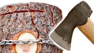 getlinkyoutube.com-Simple Trick Splits Firewood Easier
