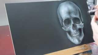 Iwata Neo CN Airbrush Speedpainting Videoanleitung detailreicher Totenkopf Skull HowTo Tutorial