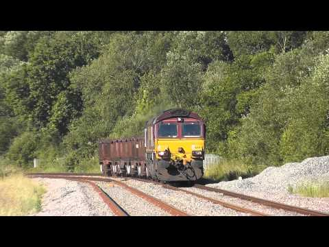 66083 through Llangennech on Trostre to Margam Steel empties 21/06/2014