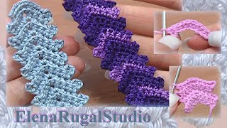 Classic Crochet Cord Lace Stripe Tutorial 1