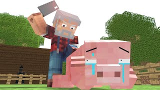 getlinkyoutube.com-Pig Life - Craftronix Minecraft Animation