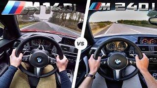 BMW M140i vs BMW M240i Acceleration & TOP SPEED Autobahn POV