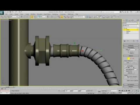 3ds Max Spiral Hose Modeling tutorial