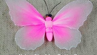 getlinkyoutube.com-How to Make Nylon Stocking Flower - Butterfly showcase