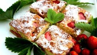 getlinkyoutube.com-Brzi kolač sa jagodama - Video - Strawberry Cake Recipe