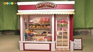 getlinkyoutube.com-Miniature Dollhouse kit Bakery ドールハウスキット ミニチュアパン屋さん作り
