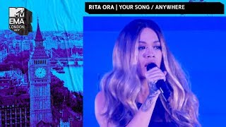 Rita Ora Performs 'Your Song' & 'Anywhere' Medley | MTV EMAs 2017 | Live Performance | MTV Music width=
