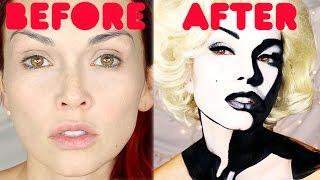 getlinkyoutube.com-Hi-Speed Marilyn Monroe Painting On A Face