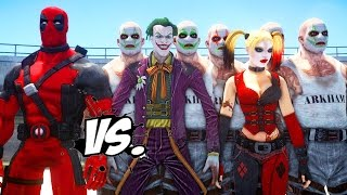 getlinkyoutube.com-DEADPOOL VS JOKER & HARLEY QUINN - EPIC SUPERHEROES BATTLE | DEATH FIGHT