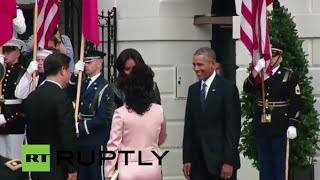 getlinkyoutube.com-LIVE: Obama welcomes Xi Jinping at the White House