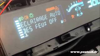getlinkyoutube.com-Testeur émulateur CAN BUS ODB compteur Scenic 2 dashboard speedometer instrument cluster Scenic 2