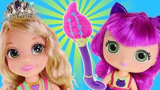 getlinkyoutube.com-Little Charmers Magical Wand Hazel's Broomstick and Disney Princess Rapunzel Playdoh Makeover