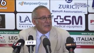 Il presidente del Benevento Vigorito annuncia il cambio in panchina in vista del rush finale di stagione