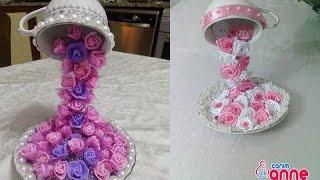 getlinkyoutube.com-Fincandan Dökülen Çiçek Şelalesi Yapılışı - Kendin Yap, Hobi , Canım Anne