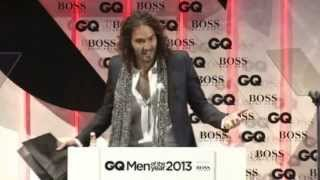 getlinkyoutube.com-Russell Brand kicked out of GQ Awards for embarrassing Hugo Boss.