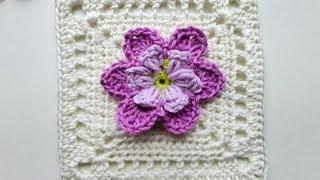 """getlinkyoutube.com-Advent Calendar * December 24, 2012 * Granny Square """"Desideria"""""""